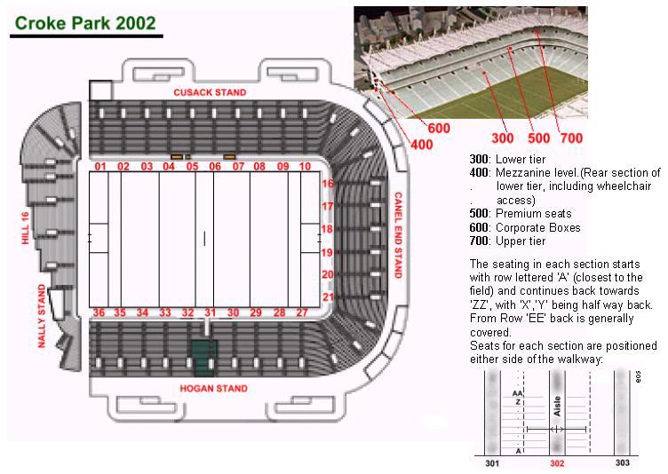 Cusack Stand Seating Plan Mayo Ticket Packages Now